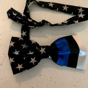 thin blue line bow tie