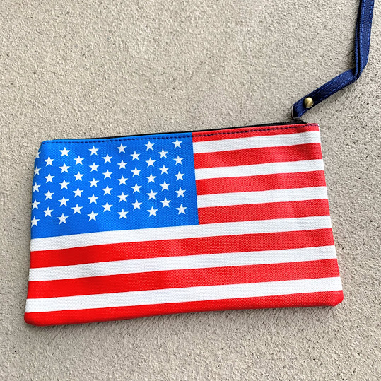 flag evening clutch