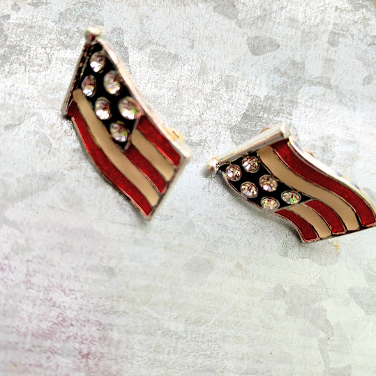 clip flag earrings