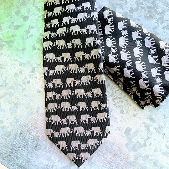 silk elephant tie