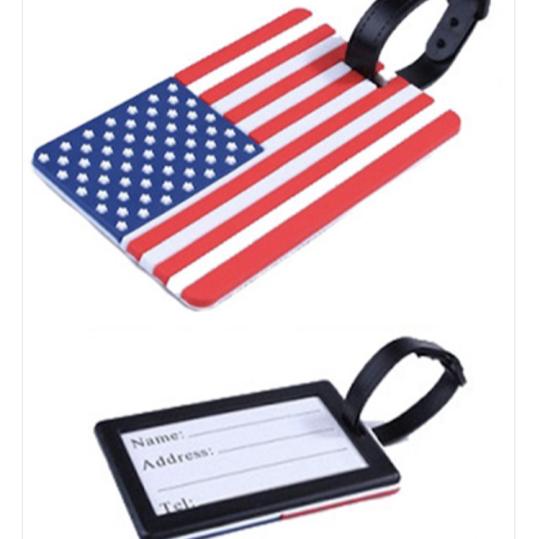 flag luggage tag