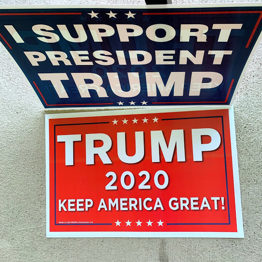 2 sided trump sign