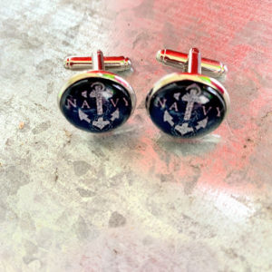 navy cuff links