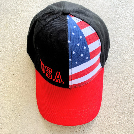 BLACK USA ~FLAG CAP