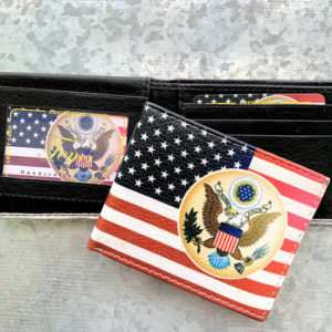 America Emblem and flag wallet