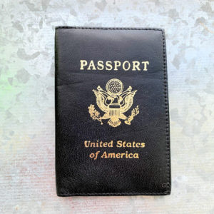 USA leather Passport holder