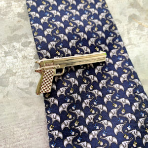 pistol tie clasp