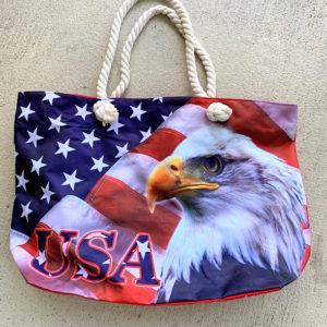 Eagle Flag Tote Bag